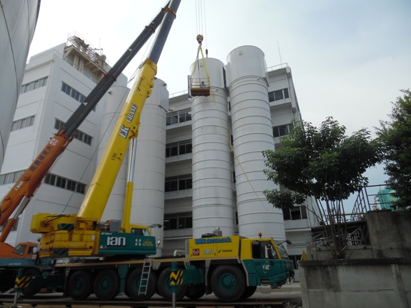 Powdery equipment installation in Thailand
